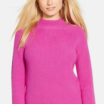 Women's Lauren Ralph Lauren Mock Neck Merino Sweater,