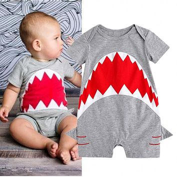 Cute Baby Boys Short Sleeve playsuit Romper Jumpsuit Summer Outfit Clothes Summer Clothes AU