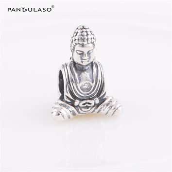 Chinese Buddha Vintage Beads Fit Pandora Charms Silver 925 Original Snake Chain Bracelet New Fashion DIY Jewelry For Women