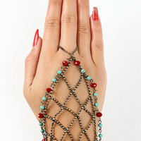 Caged Bead Accent Hand Chain