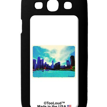 Chicago Skyline Watercolor Galaxy S3 Case  by TooLoud