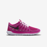 The Nike Free 5.0 (3.5y-7y) Girls' Running Shoe.