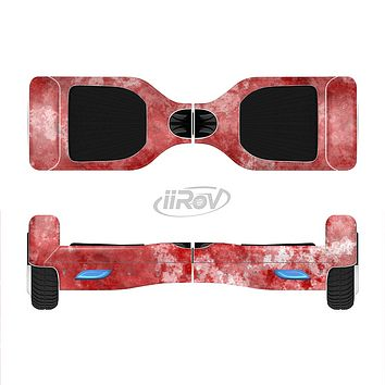 The Red Splotted Paint Texture Full-Body Skin Set for the Smart Drifting SuperCharged iiRov HoverBoard