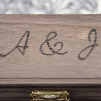 Ring Box - Wedding Ring, Engagement Ring, Promise Ring, Ring Bearer, Wooden Ring Box