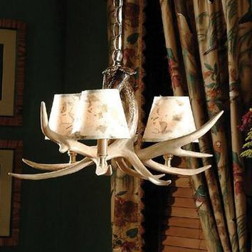 """The Ozark"" Whitetail Chandelier"