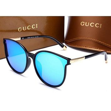 GUCCI Fashionable Ladies Retro Summer Shades Eyeglasses Glasses Sunglasses Blue I