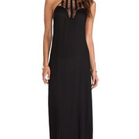 Acacia Swimwear Positano Crochet Maxi Dress in Black