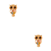 FOREVER 21 Wise Owl Studs Gold/Multi One