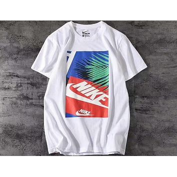NIKE 2018 counter colorful printing new T-shirt F-A-BM-YSHY white