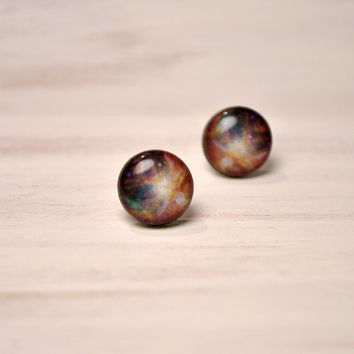 Orion Stud Earrings - Hypoallergenic Surgical Stainless Steel Post Earrings - Galaxy Jewelry