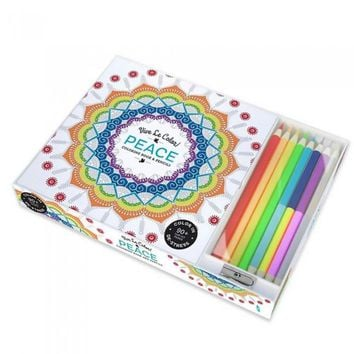 Peace Adult Coloring Book Color Therapy Kit