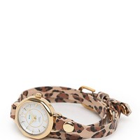 La Mer Del Mar Double Strap Watch - Womens Jewelry - Leopard - One