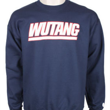 Team Wu Crewneck Sweatshirt - Navy: Wu Wear - Official Wu Tang T Shirts, Shoes and Clothing from Wu Tang Clan