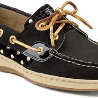 Sperry Top-Sider Bluefish Metallic Dot 2-Eye Boat Shoe Black/Gold, Size 8M  Women's Shoes