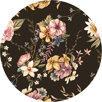Victorian Flora Circle Wall Decal