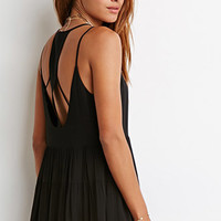 Pom Trim Cutout Dress