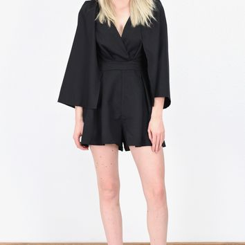 Only the Best Caped Romper {Black}