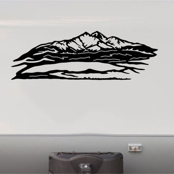 Mountains RV Camper 5th Wheel Motorhome Vinyl Decal Sticker Graphic Custom Text Mural