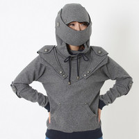 Lucifer Armored Knight Medieval Armor Pullover Hoodie(100% Handmade Wool) Made To Order