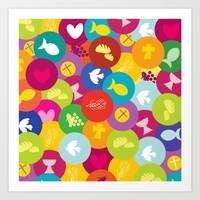 eat peace pray love drink live Art Print by d.ts