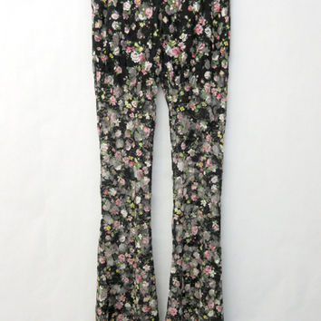Floral Lace Flares
