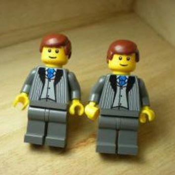 Stylish and Handsome Lego Business Man Minifig by Nostalgiclinks