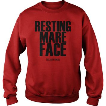 Resting mare face the cinchy cowgirl shirt Sweat Shirt