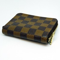 Louis Vuitton Zippy Coin Purse Damier Ebene (authentic)