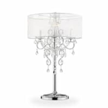 "FLORENCE 27""H Crystal Pendants Table Lamp 
