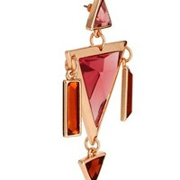 ASOS Triangle Gem Doorknocker Earrings at asos.com