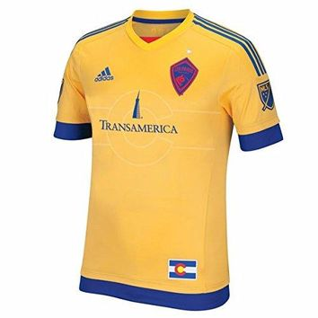 Colorado Rapids MLS Adidas Men's Gold Short Sleeve Authentic On-Field Jersey
