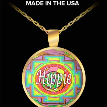 """Hippie"" Necklace Pendant. Great Design Style by #Googarilla"