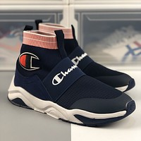 Champion cabinet high-top fly-knit socks shoes sneakers shoes