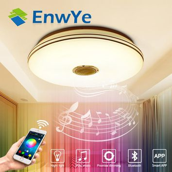 EnwYe RGB 36W LED ceiling Light with Bluetooth & Music 220V modern Led  Dimmable ceiling lamp for 15 -30 Square meters