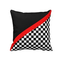 Checkered Flag Racing Pillows from Zazzle.com