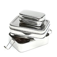 Stainless Steel ECOlunchbox Three-in-One (Bento Style Lunchbox):Amazon:Kitchen & Dining