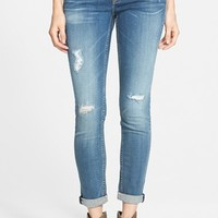 Junior Women's Vigoss 'Tomboy' Distressed Skinny Jeans ,