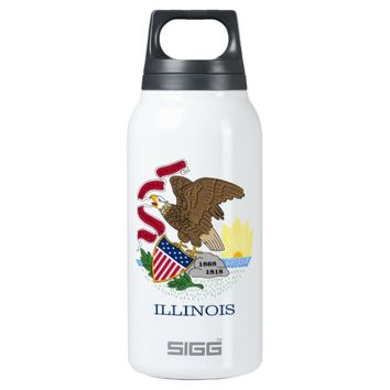 State Flag of Illinois 10 Oz Insulated SIGG Thermos Water Bottle