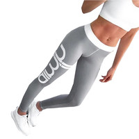 Aimn Print Sport Women Jogging Long Pant Tracksuit Fitness legging high waist Elastic Gym Workout yoga leggings Running pants