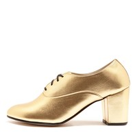 bobbyhg - Metallic High Heel Bobby Leather Lace-Up Shoe