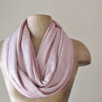 Blush Infinity Scarf - Dusty Pink Scarf - Lightweight Powder Pink Sweater Knit Circle Scarf - Soft Loop Scarf