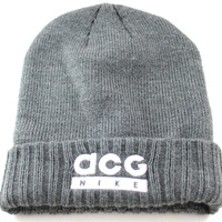 Nike ACG Men's/Women's Gray Heavy Acrylic Winter Everyday Beanie Hat 609604 071