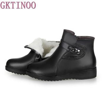 autumn winter women ankle boots new fashion wool fur warm woman snow boots for ladies