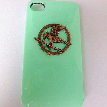 iPhone 4/4s Cover, iPhone 5 Case, the Hunger Games Cover, Inspired Mockingjay Case, Mint Green, Light Green, Trending Accessories, Best Gift