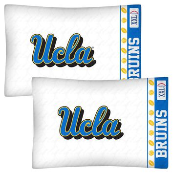 UCLA Bruins Pillowcase Set College Bedding Pillow Covers