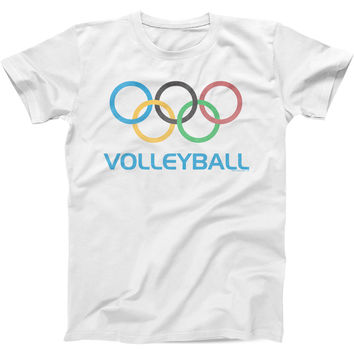 Olympic Volleyball - Mens Fitted Cotton Crew T-shirt