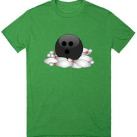 Bowling Ball with Pins | T-Shirt | SKREENED