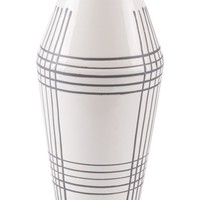 Ona Vase Small White & Black