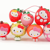 Sanrio Hello Kitty Squishy Fruit Series Phone Strap