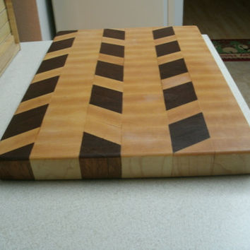 Cutting Board Maple and Edinam End Grain by BillsWoodenPleasures